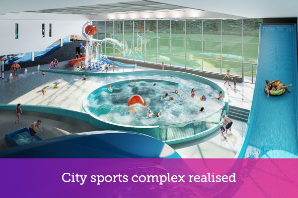 City sports complex realised