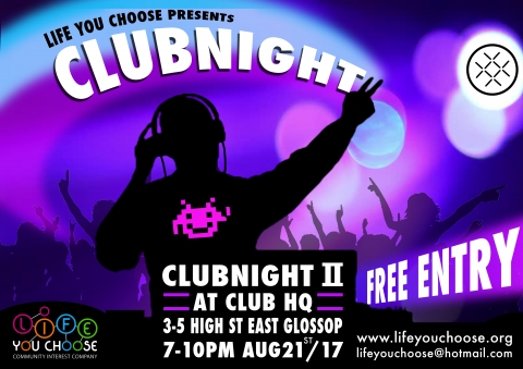 Free night club night for adults with learning difficulties