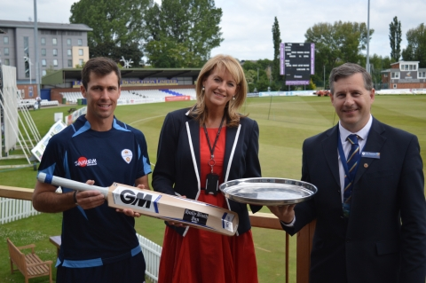 Derby College teams up with Derbyshire County Cricket Club to boost students' employability skills