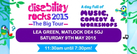 Disability Rocks comes to Lea Green near Matlock on 9 May