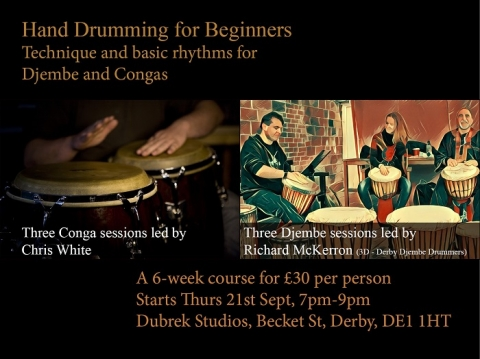Try Hand Drumming for Beginners in Derby