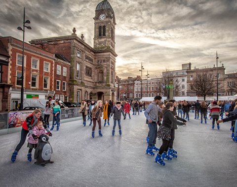 DERBY'S CATHEDRAL QUARTER 3AAA ICE RINK PROVIDES FESTIVE FUN