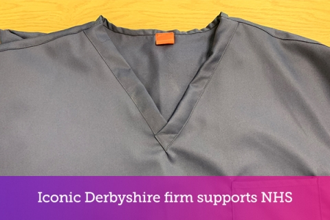 Iconic Derbyshire firm supports NHS