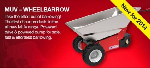 The MUV electric wheelbarrow from Nu Star Material Handling Ltd