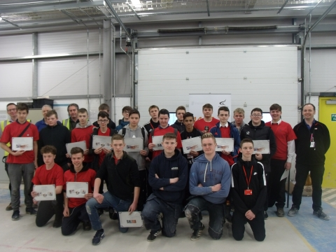 School Pupils Complete Construction Skills Challenges