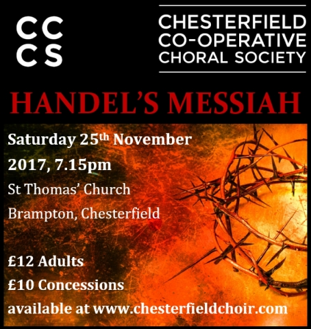 Chesterfield Co-operative Choral Society present Handel's Messiah in November