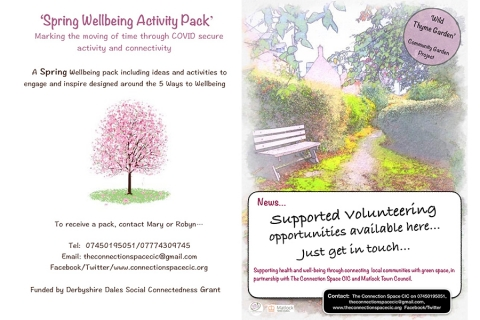 Spring Wellbeing Activity Packs and Supported Volunteering Opportunities now available from The Connection Space CIC