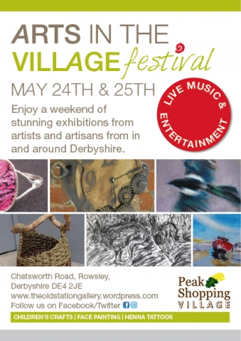 Arts in the Village Festival at Peak Shopping Village in Rowsley