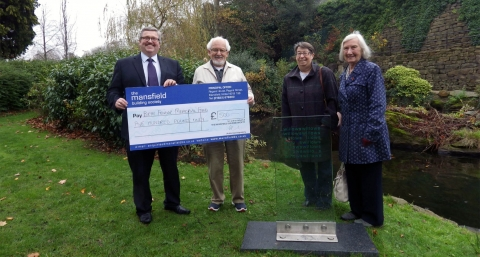 Beth's Poetry Trail in Belper gets a helping hand from Mansfield Building Society