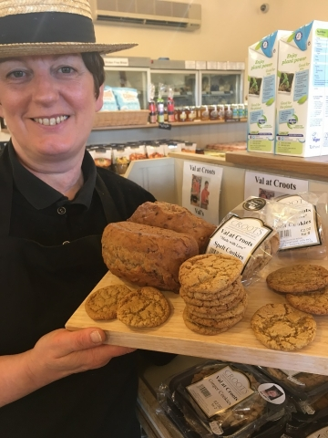 Bake Off star Val extends range of bakes at Croots Farm Shop in Derbyshire