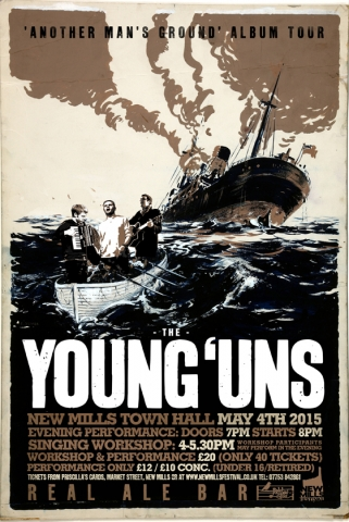 New Mills Town Hall Presents The Young'Uns on May 4th