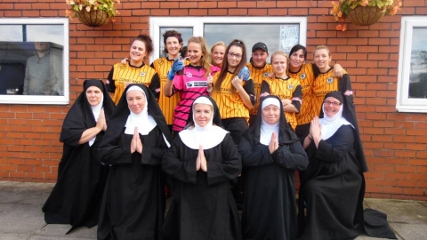 Sister Mary Lazarus Claims Nun of the Match Award