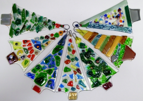 Xmas Glass Fusing Workshops at Great Longstone Village Hall