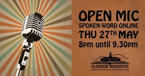 Glossop Bookfest 2021: Open Mic Evening via Zoom