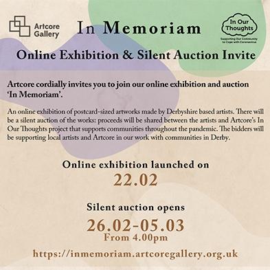 In Memoriam Online Exhibition and Silent Auction Invite