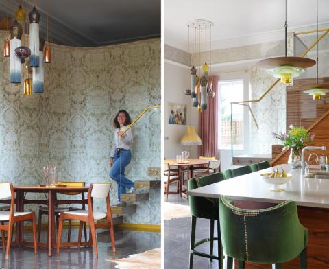Curiousa & Curiousa Lights Adorn The Beautiful Rooms of Isabel Cordero Padilla's home
