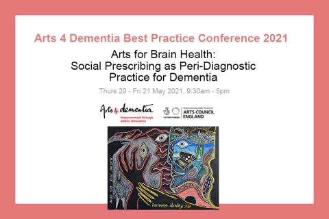 REGISTRATION IS NOW OPEN! Arts 4 Dementia Best Practice Conference 2021
