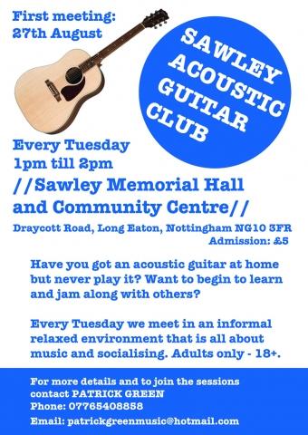 New Acoustic Guitar Club - Sawley Derbyshire
