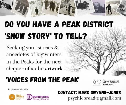 Mark Gwynne Jonesis asking for your Peak District snow stories