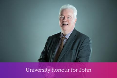 University honour for John