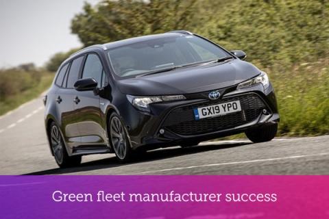 Green fleet manufacturer success for Toyota